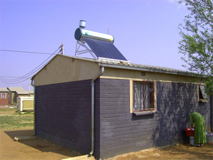 Low pressure solar geyser power energy solutions for Low cost housing solutions